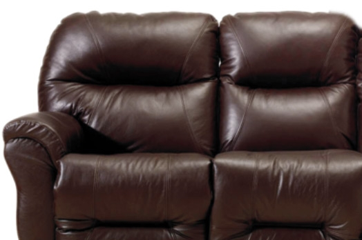 Sofa Synthetic Leather Jupiter Dual Reclining In Dark