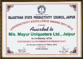 Productivity Excellence Award 2011-2012